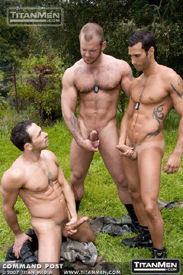 Gay men sex outdoors